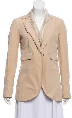 Brunello Cucinelli Tiered Peak Lapel Blazer