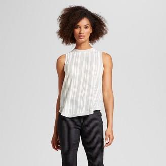 Who What Wear Women's Chiffon Trim Woven Tank Top - Who What Wear $22.99 thestylecure.com