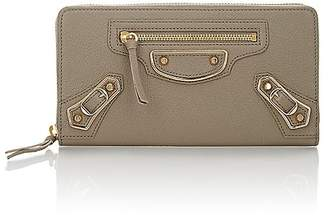Balenciaga Women's Metallic Edge Zip-Around Continental Wallet