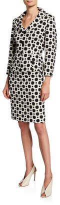 Albert Nipon Polka-Dot Two-Piece Jacket & Skirt Suit Set