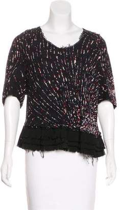 Alexandre Herchcovitch Printed Short Sleeve Top