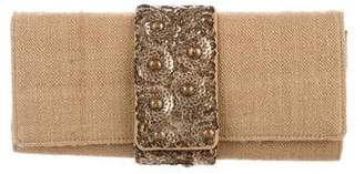 Oscar de la Renta Embellished Woven Clutch
