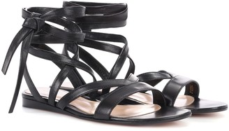Gianvito Rossi Exclusive to mytheresa.com Janis Flat leather sandals