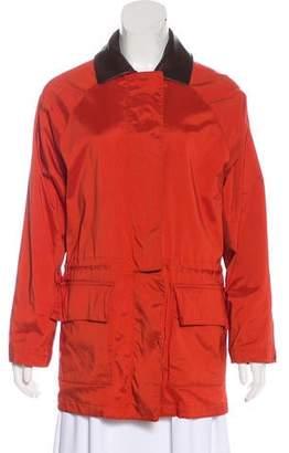 Loro Piana Leather-Trimmed Lightweight Coat