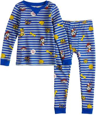 Cuddl Duds Toddler Boy Paw Patrol Chase, Marshall & Rubble Top & Bottoms Base Layer Set
