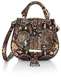DeMellier Women's Nano Venice Snakeskin-Embossed Leather Saddle Bag