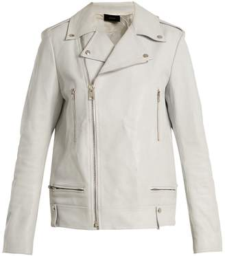 Joseph Ryder zipped grained-leather jacket