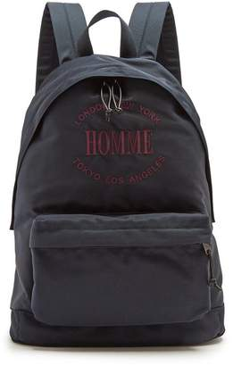 Balenciaga - Explorer Coated Canvas Backpack - Mens - Navy