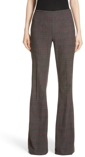 Women's Michael Kors Plaid Stretch Wool Flannel Pants