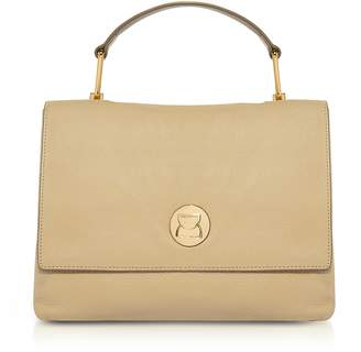 Coccinelle Grainy Two-Tone Leather Medium Liya Satchel Bag