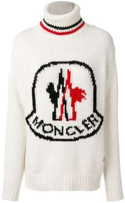 Moncler Gamme Rouge logo patch roll-neck sweater