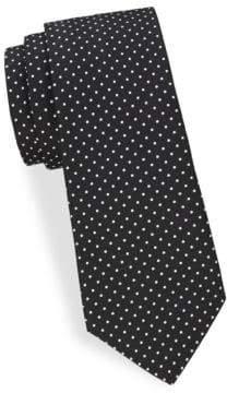 Saks Fifth Avenue Simple Dot Silk Tie