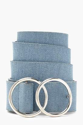 boohoo Double Ring Denim Boyfriend Belt