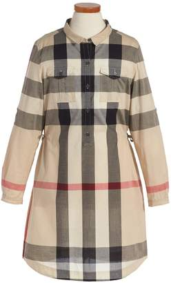 Burberry 'Darielle' Check Print Dress