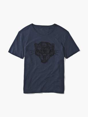 John Varvatos Panther Chain Stitch Tee