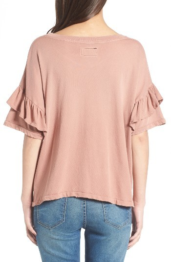 Women's Current/elliott The Ruffle Roadie Tee 5