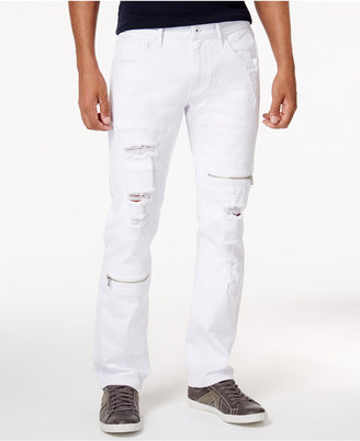Inc International Concepts Men's Slim-Fit Ripped White Jeans, Created for Macy's $79.50 thestylecure.com