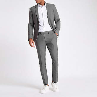 River Island Grey super skinny suit pants
