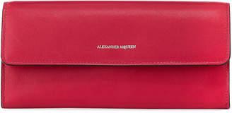 Alexander McQueen Smooth Chain Crossbody Wallet Bag, Pink