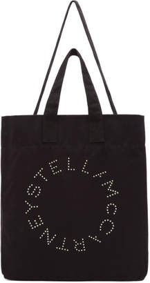 Stella McCartney Black Round Logo Beach Tote