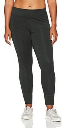 Calvin Klein Women's Plus Size Full Length Legging W/Side Pockets & Rib Cuffs