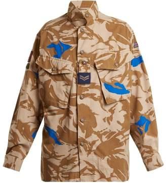 Myar - 1990s Camouflage Print Jacket - Womens - Khaki Multi