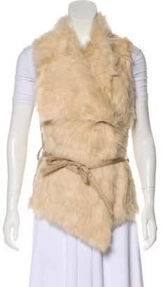 Love Token Belted Faux Fur Vest