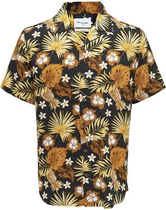 ONLY & SONS Floral Short-Sleeve Button-Down Shirt