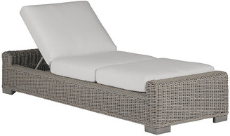 Summer Classics Inc Rustic Oyster Chaise - White - SUMMER CLASSICS INC
