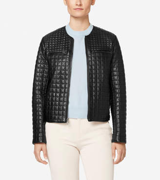 Quilted Collarless Jacket