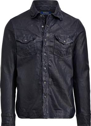 Ralph Lauren Leather Western Overshirt