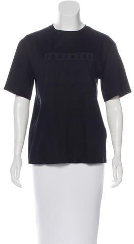 Alexander WangAlexander Wang Short Sleeve Typography Top