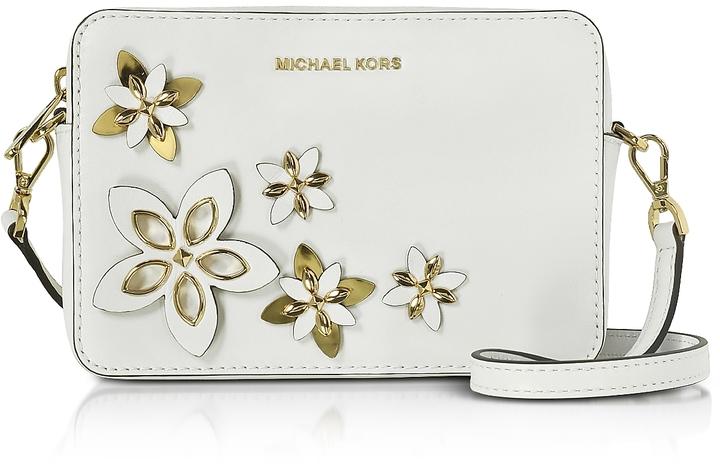 MICHAEL Michael KorsMichael Kors Flowers Optic White Pouches Medium Camera Bag