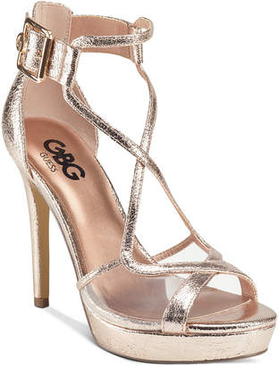 G by Guess Javit Platform Dress Sandals Women Shoes
