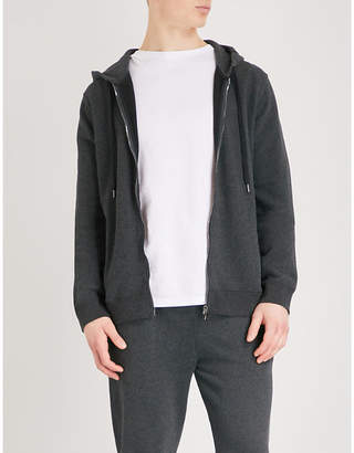 Derek Rose Devon marl-patterned cotton hoody