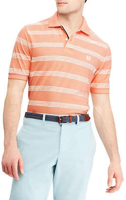 Chaps Big and Tall Striped Cotton Mesh Polo