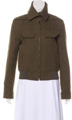 Roland Mouret Tweed Zip-Up Jacket