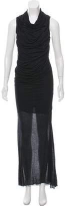 Helmut Lang Cowl Neck Maxi Dress