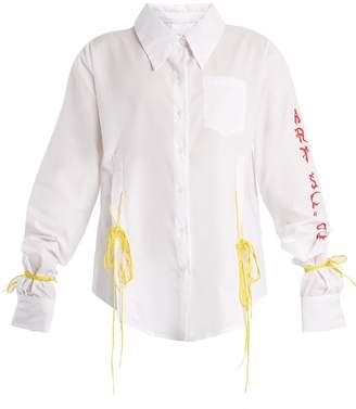 ART SCHOOL Acid oversized tie-side cotton shirt