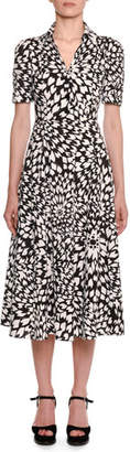 Missoni Dahlia-Print Short-Sleeve Cotton Shirtdress