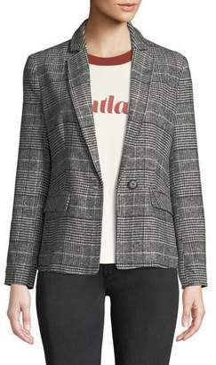 Cupcakes And Cashmere Bela Plaid Single-Button Blazer