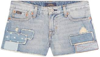 Polo Ralph Lauren Embroidered Flag Denim Shorts