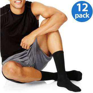 Hanes Men's Big & Tall Cushion FreshIQ Crew Socks 12-Pack