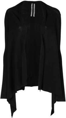 Rick Owens knit draped open cardigan
