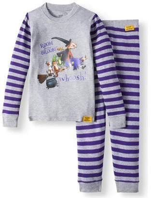 b-ROOM Room on a Broom Long Sleeve Tight Fit Pajamas, 2-piece Set (Baby Boys, Baby Girls, Toddler Boys, or Toddler Girls Unisex)