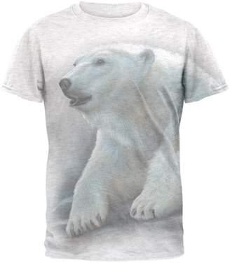 Old Glory Polar Bear All Over Heather Adult T-Shirt