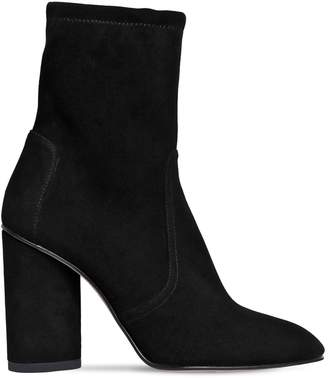 Stuart Weitzman 95mm Margot Stretch Suede Ankle Boots