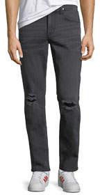 Blake Slim Straight-Leg Jeans Black