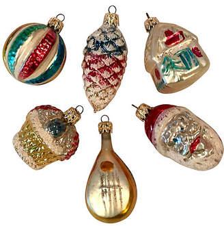 One Kings Lane Vintage Fancy Blown Glass Ornaments Set of 6