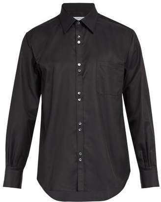 Cobra S.C. Cobra S.c. - Single Cuff Cotton And Silk Blend Shirt - Mens - Black